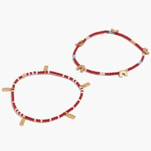 🆕$16 or✨FREE✨Madewell Two-Pack Red Beaded Bracelet